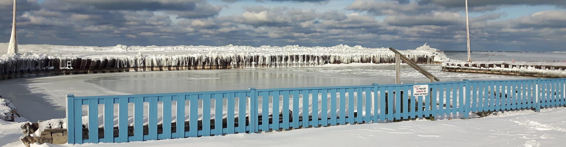 Point Clark Harbour Winter