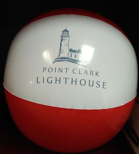 A picture of a Point Clark Lighthouse Beach Ball