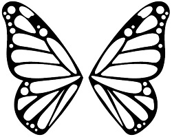 A picture of a butterfly template.