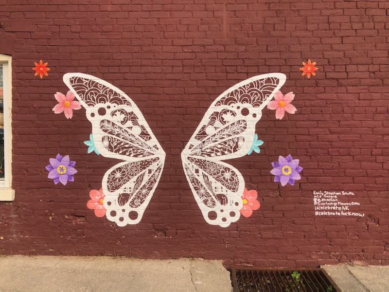 Lucknow Butterfly Mural